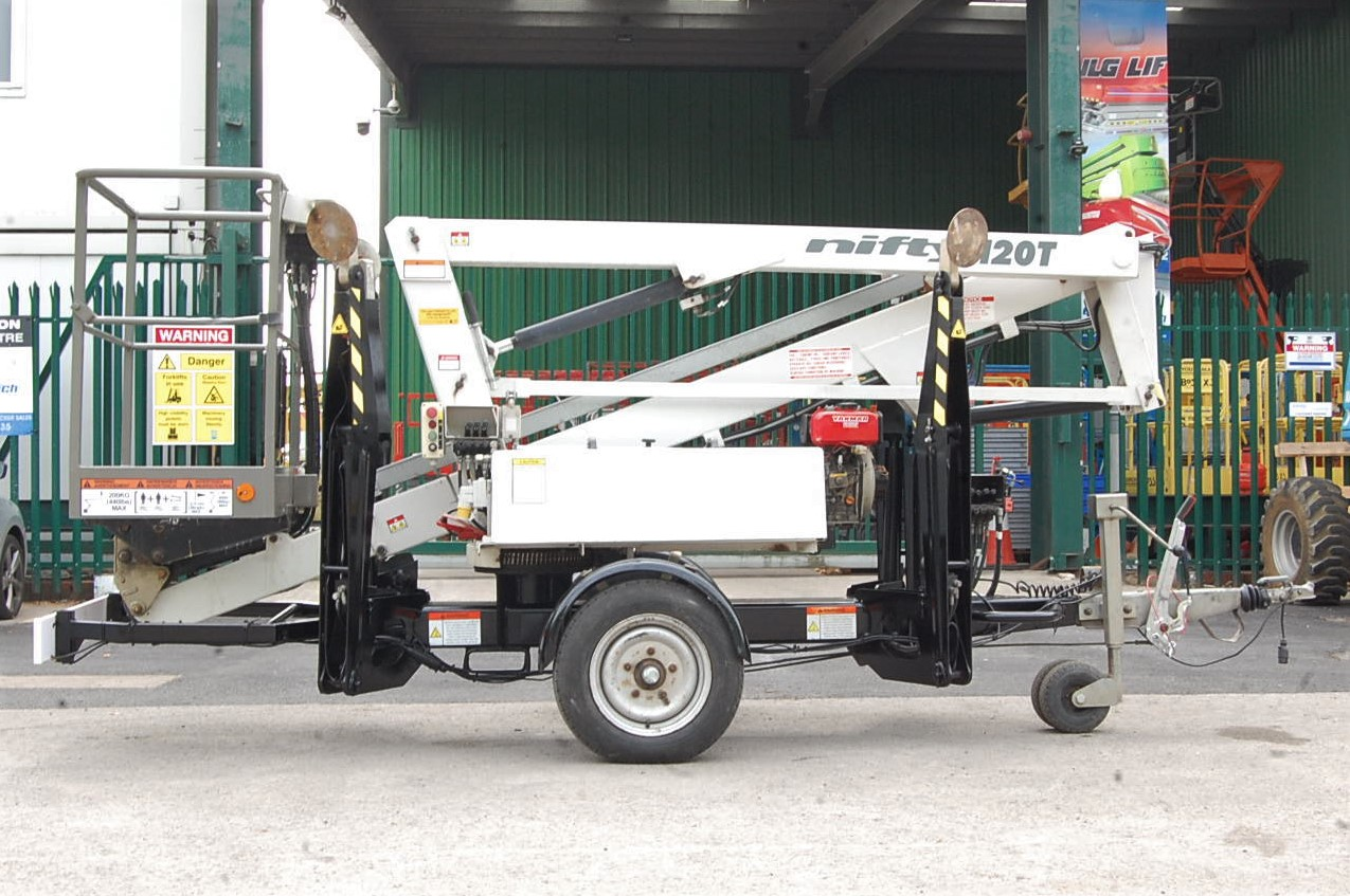 NiftyLift Trailer Mounted Cherry Picker Access Scissor Lift 120TPE