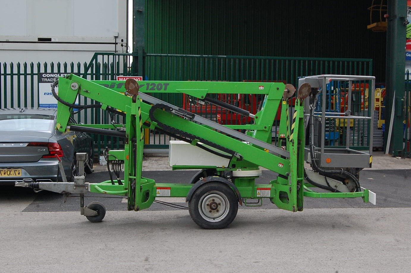 NiftyLift Trailer Mounted Cherry Picker Access Scissor Lift 120TE