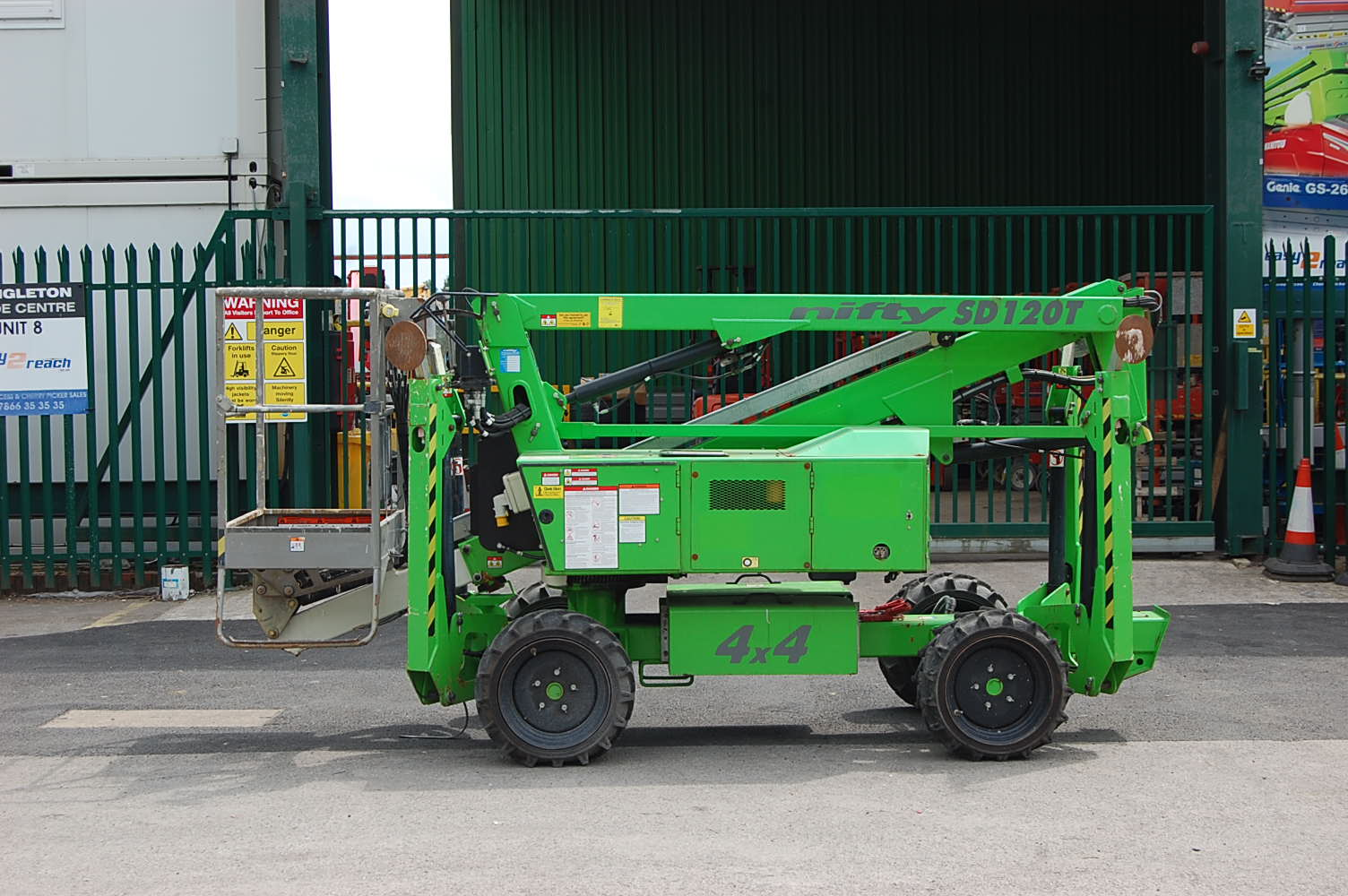 Niftylift SD120T 4×4 Rough Terrain Self Drive Boom Lift
