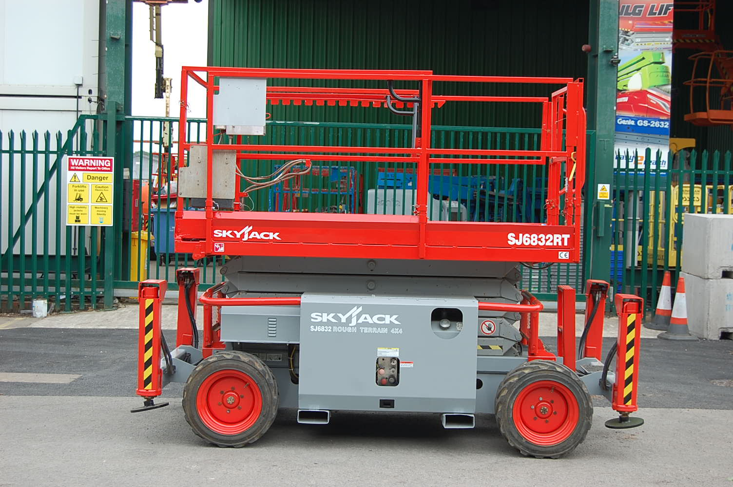 Skyjack 6832RT Rough Terrain 12m Diesel Scissor Lift