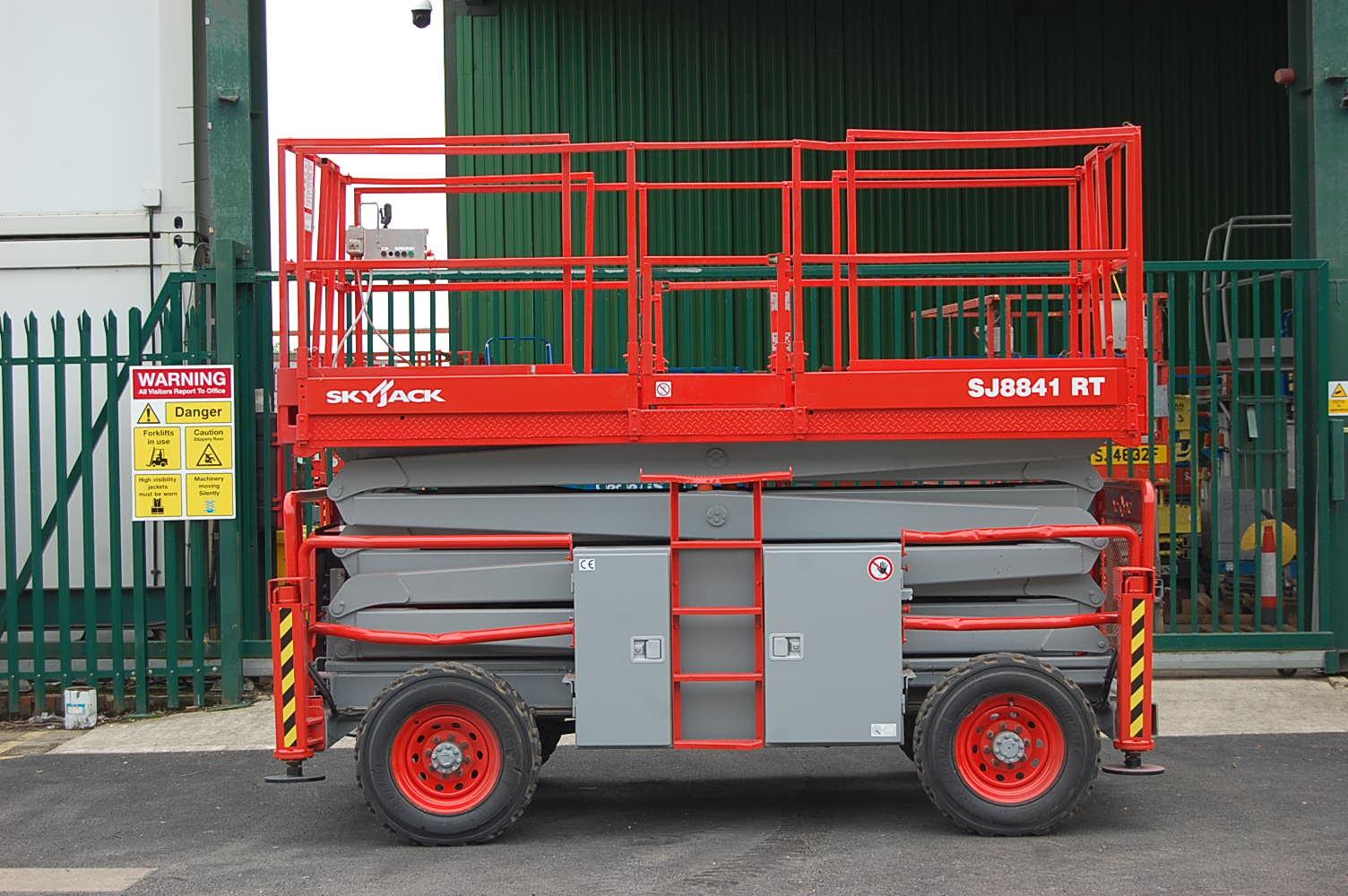 Skyjack 8841 Rough Terrain 14m Diesel Scissor Lift