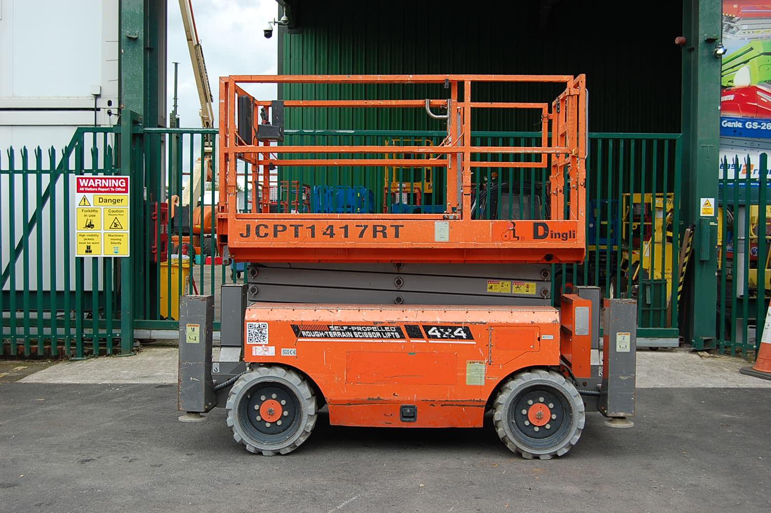 2014 Dingli JCPT1417RT Diesel 4×4 Scissor Lift 14m