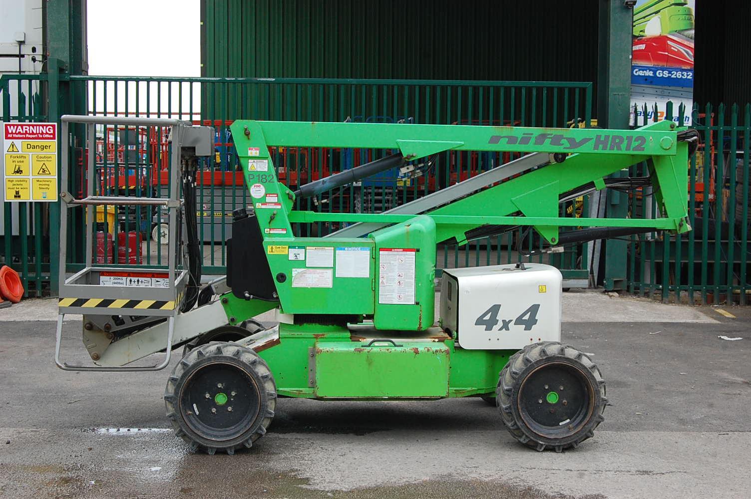 2011 Niftylift HR12 NDE Rough Terrain Boom Lift 12.2m