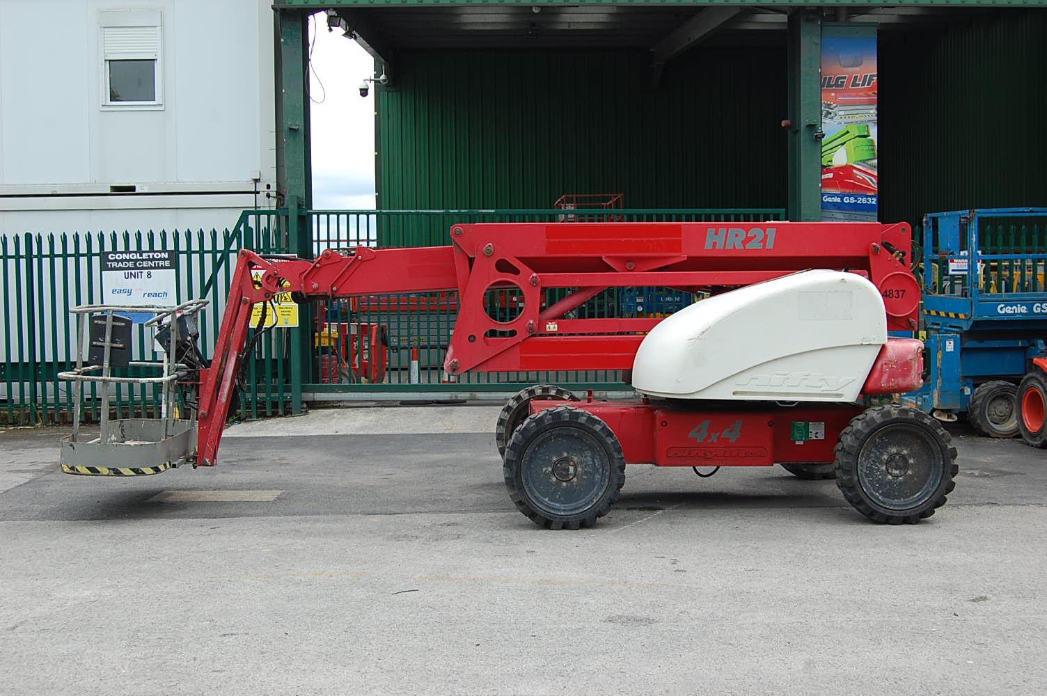 2007 Niftylift HR21 4×4 Rough Terrain Boom Lift 21m