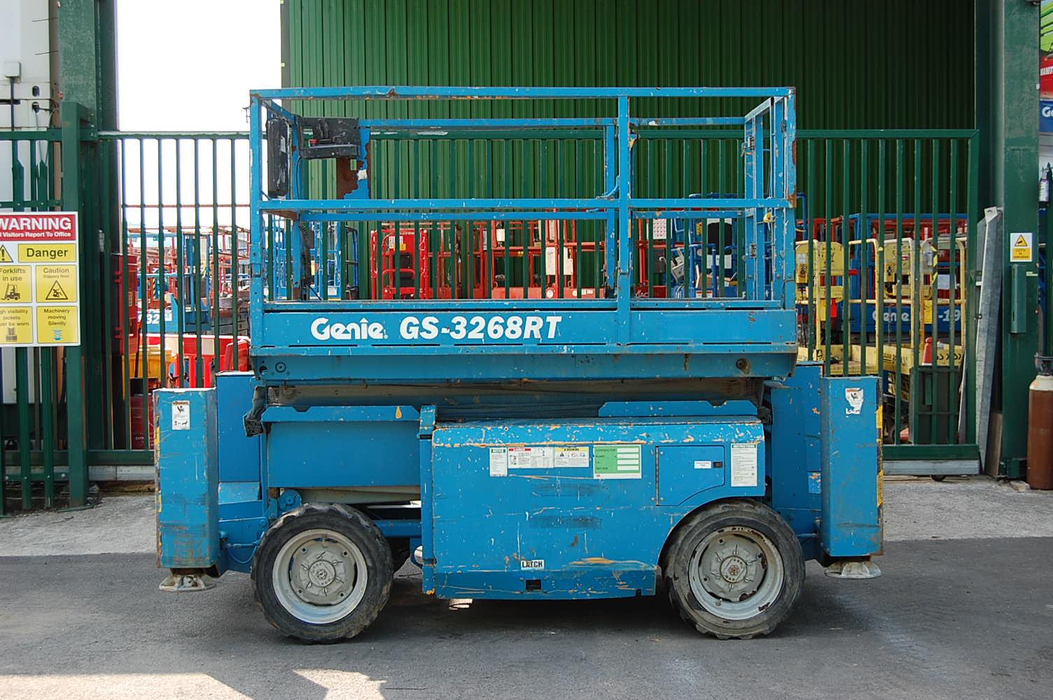 2008 Genie 3268RT Rough Terrain Diesel Scissor Lift  11.79m